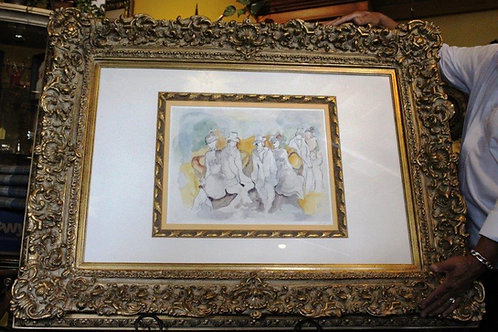 Outsized GOLD LEAF FRAMED Art Piece