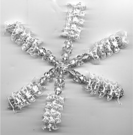 Lace and Tri Bead Snowflake