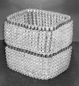 Rectangular Crystal Bead Basket