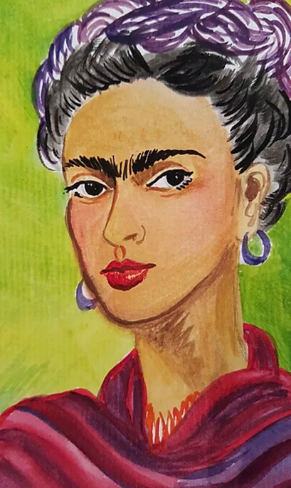 5X7 Frida Kahlo #2 Greeting  Card