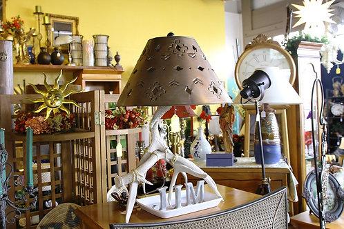 Vintage Antler Lamp