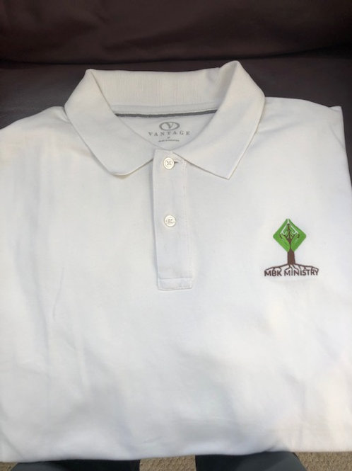 My Brother's Keeper Men's Polo (White)
