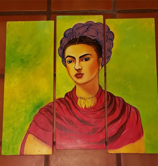 Frida on Seperate Wood Panels