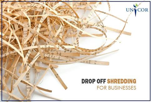 Drop Off Shredding for Business