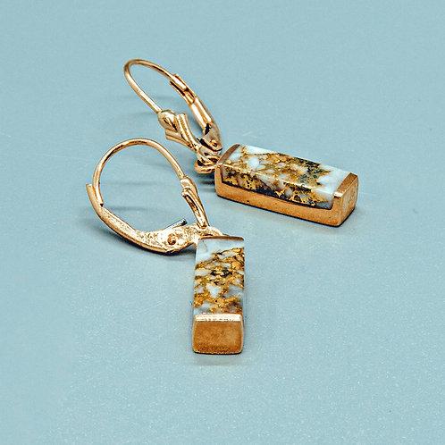 Melody Gold Quartz Earring