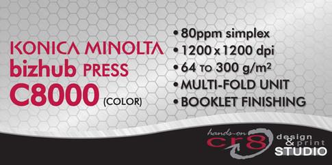 C8000 Bizhub Press