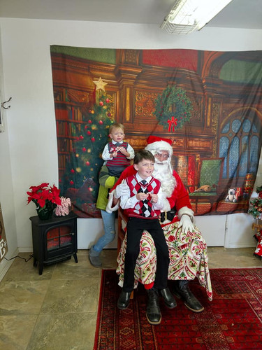 Santa and little men!