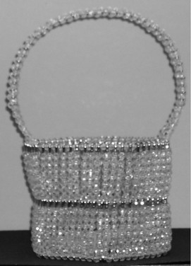 Large Hexagon Crystal Bead Basket