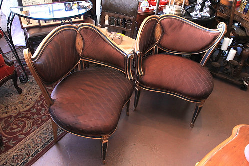 Art Deco Chairs (Sold as a set of two)