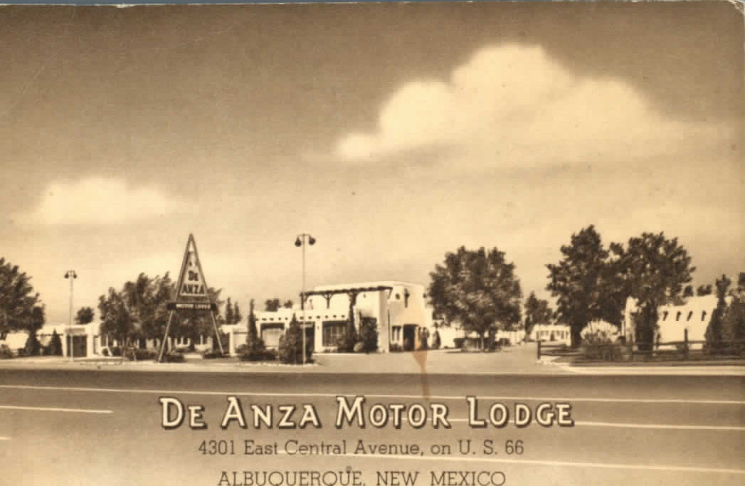 De Anza Motor Lodge Post Card