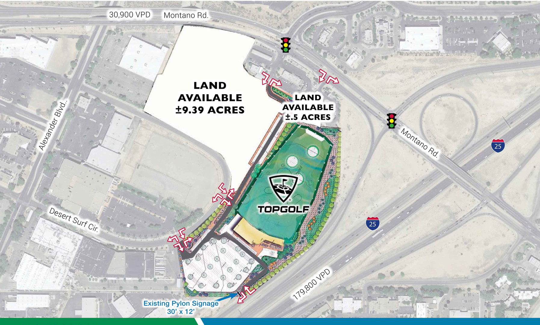 9.39 Acre next to Top Golf Site Plan