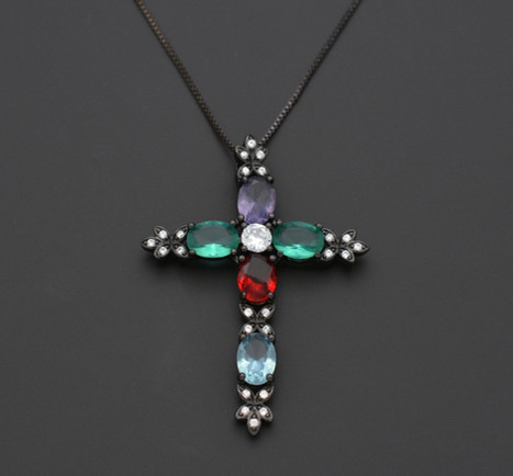 Cross Necklace 2 by Public Image