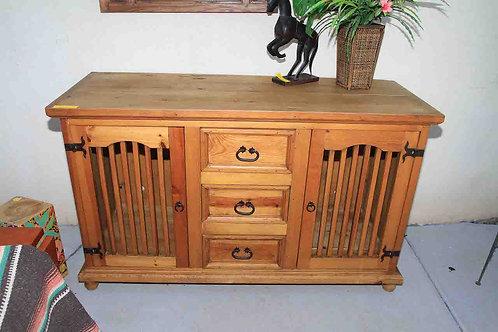 Rustic Oak TV Cabinet