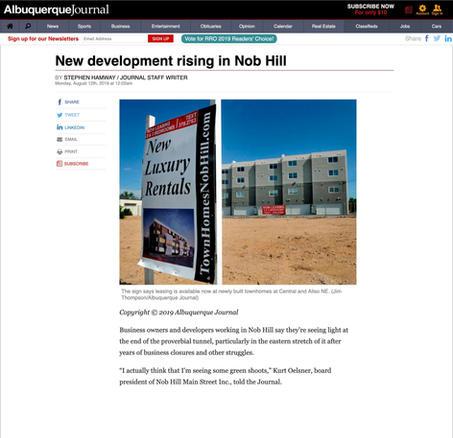 Albuquerque Journal Announcement