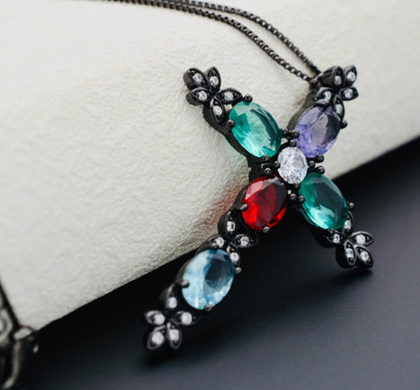 Cross Necklace 3 by Public Image