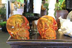 New Glass Skull Art