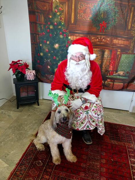 Santa and a gorgeous present
