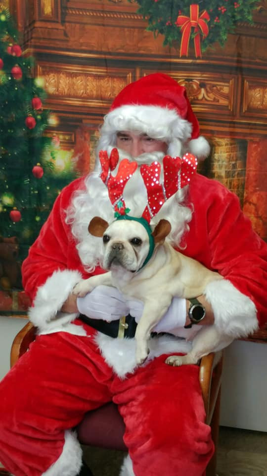 Santa with Reindog
