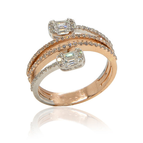 Twin Flame Diamond Ring