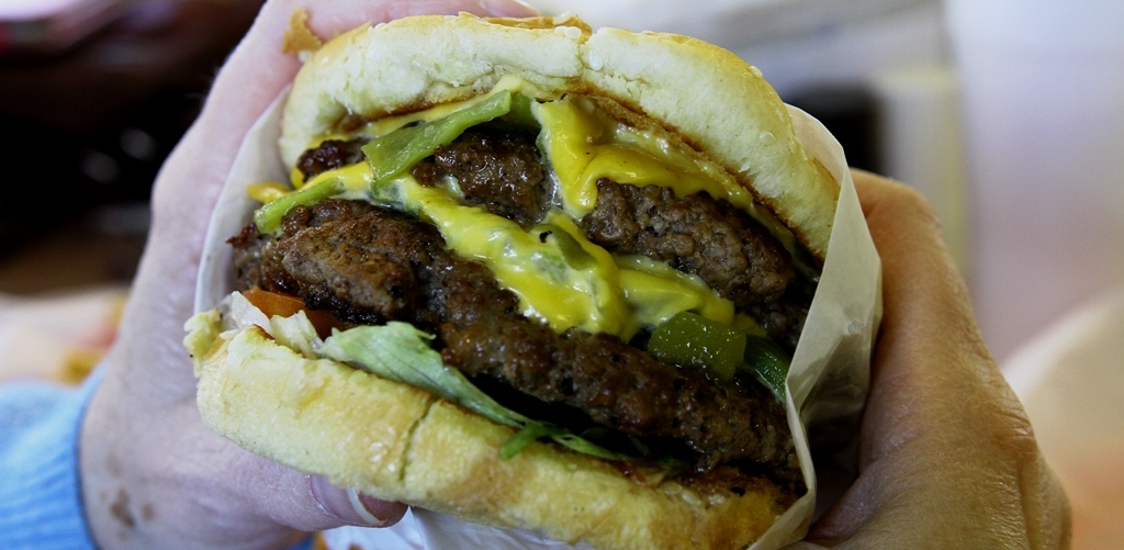 Double Green Chili Burger