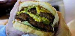 Double Green Chili Burger