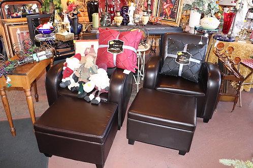 Bogart Leather Chair & Ottoman