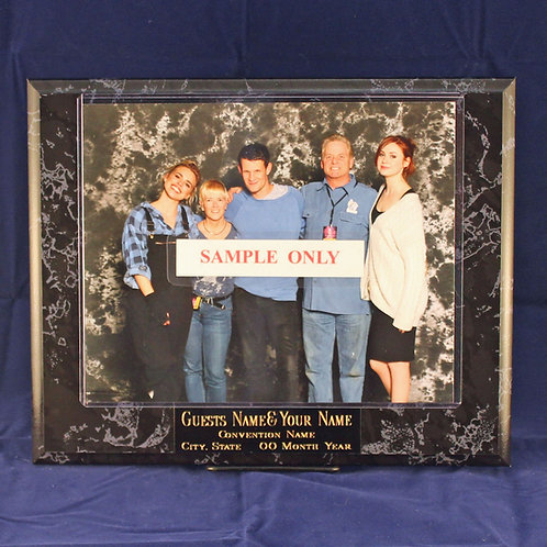 Standard Plaque for YOUR Photo Op or Autograph