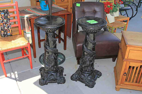 Oriental Dragon Pedestals