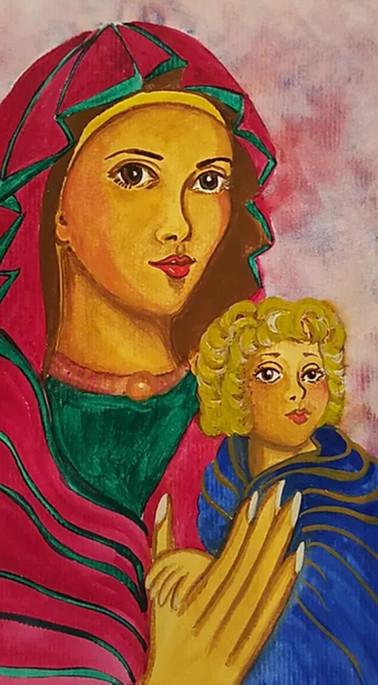 Madonna and Child Retablo
