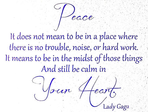 Peace comes from within Find it at Healthy Families