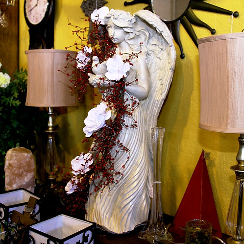 Ceramic Angel with Flowers