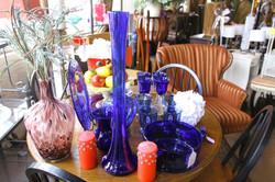 Variety-Blue Glass Vases and Dinnerware
