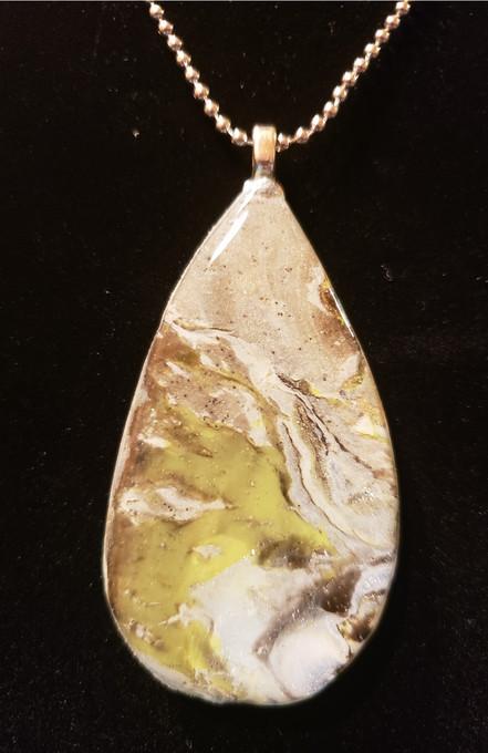 313 Clay Sage Necklace Closeup