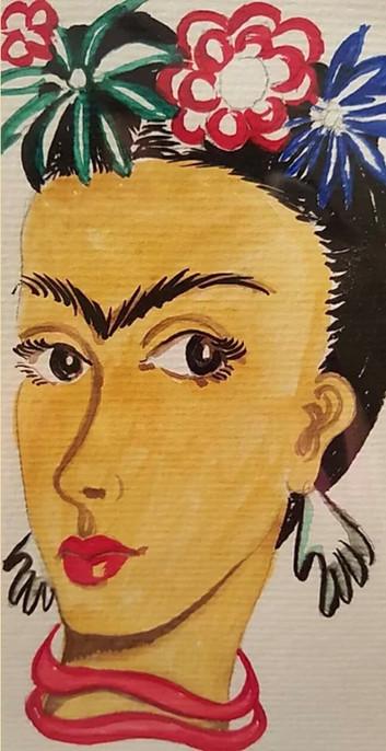 Fun Frida Kahlo Greeting Card 5X7