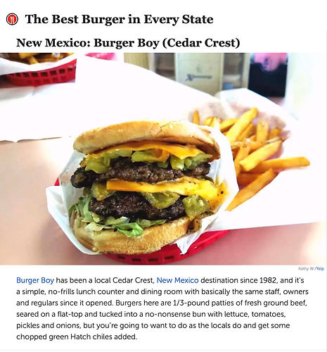 The Daily Meal BEST BURGER IN NM Award.j