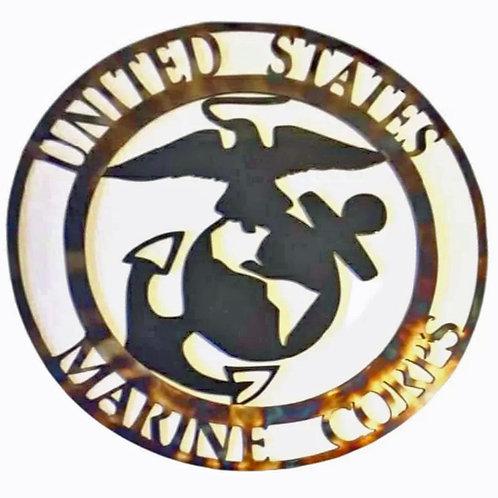 Metal Wall Art • MarineService Emblem