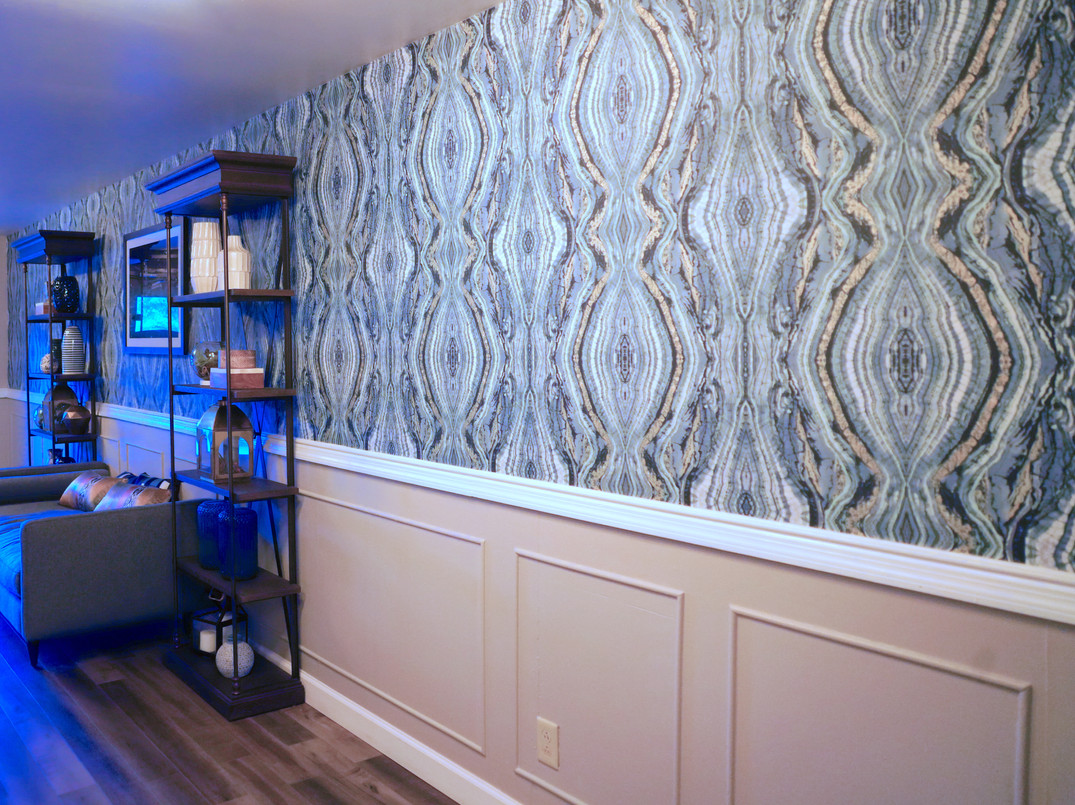 Add texture to any wall with wallpaper
