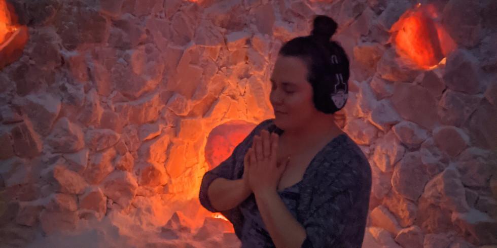 Binaural Beats Meditation in the Salt Cave