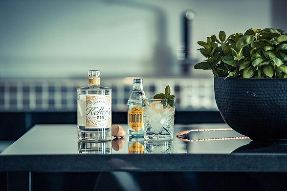 Keller´s Dry Gin. Spirituosen Großhandel, für Wiederverkäufer. Spirituosengroßhandel.