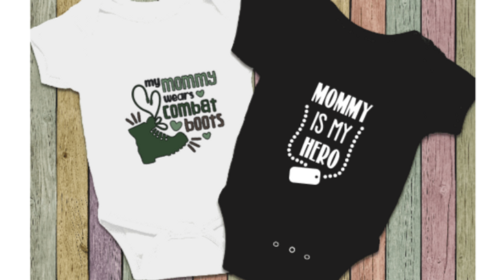 Military Mommy Onesies