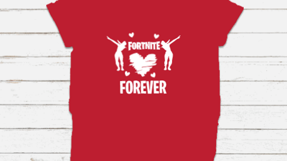 FORTNITE Inspired Youth Valentines Shirt