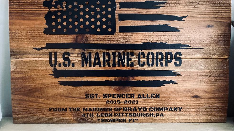 Military Flag Sign