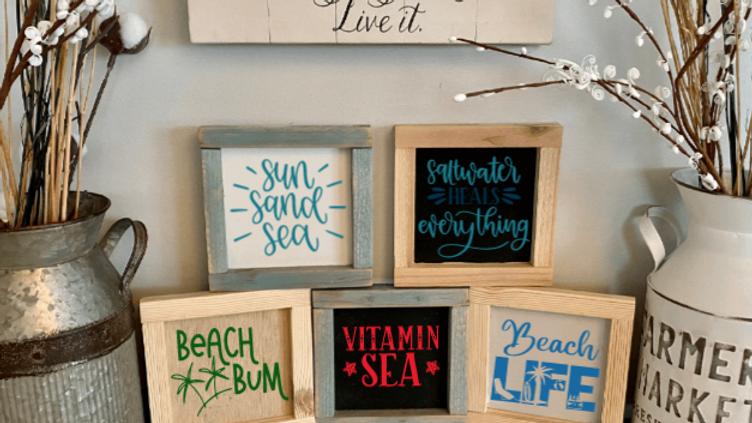 Beach Farmhouse Wooden Signs