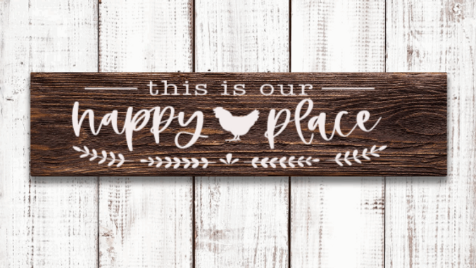 This Is Our Happy Place Sign