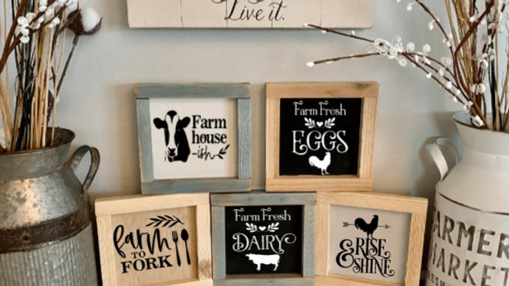 Farmhouse Wood Kitchen Sign