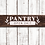 Thumbnail: Pantry Wooden sign