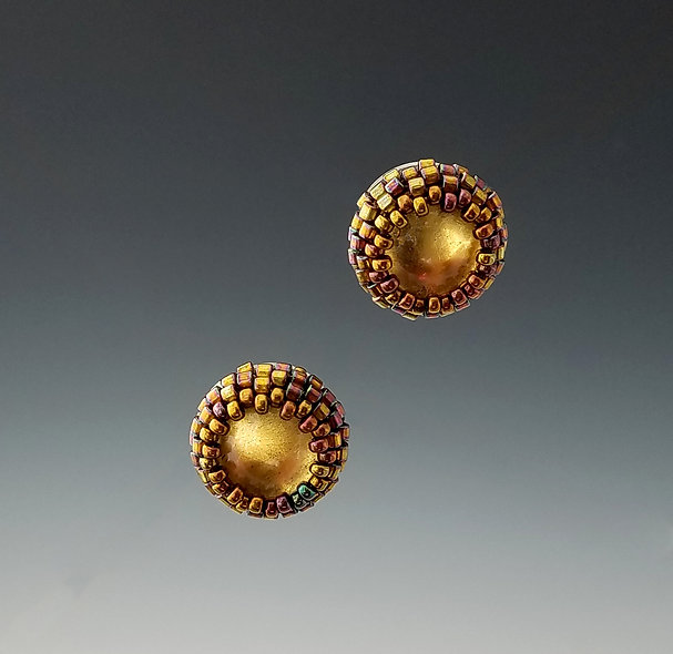 Small Gold Halo Studs
