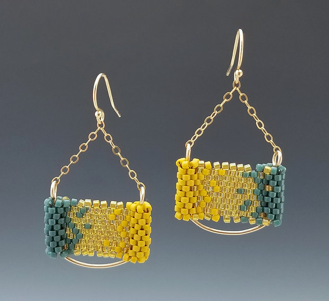 Yellow 21c Bar Earrings