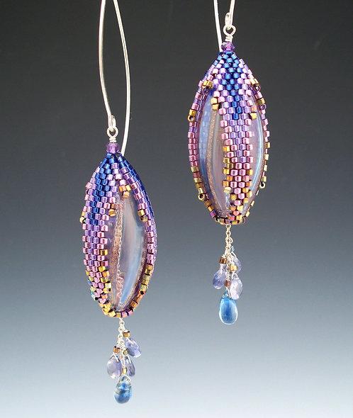 Violet Venetian Drop Earrings