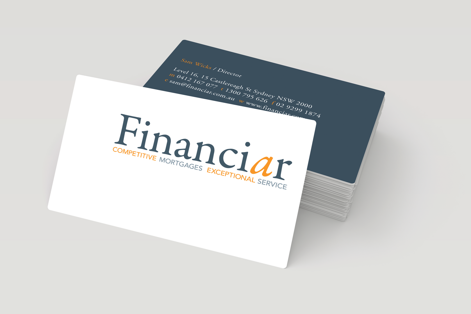 Financiar – Business Cards